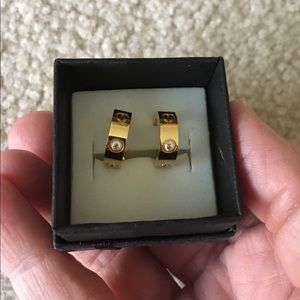 Jewelry - New CZ Gold Filled Earrings